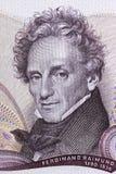 Ferdinand Raimund-Porträt stockbilder