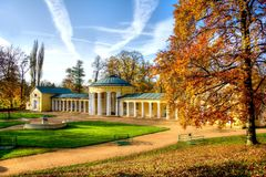 Ferdinand spring colonnade - smalll west Bohemian spa town Marianske Lazne (Marienbad) - Czech Republic royalty free stock image