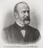 Ferdinand von Richthofen. Ferdinand Freiherr von Richthofen (1833 - 1905) was a German traveler, geographer, and scientist.Picture from an 100 years old Royalty Free Stock Images