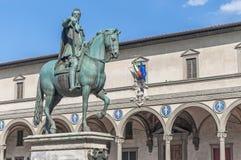 Ferdinando I DE Medici in Florence, Italië stock afbeeldingen