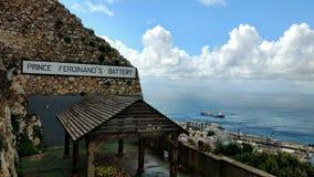Ferdinands Battery直布罗陀王子 图库摄影