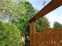 Feredeu修道院 阿拉德县,罗马尼亚 库存照片