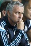 Ferencvaros对 切尔西体育场拉开的足球战术比赛 免版税库存图片