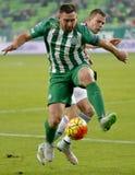 Ferencvaros对 Vasas OTP银行同盟足球比赛 图库摄影