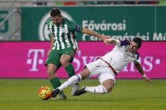 Ferencvaros对 Vasas OTP银行同盟足球比赛 免版税图库摄影