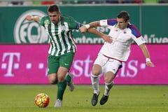 Ferencvaros对 Vasas OTP银行同盟足球比赛 库存照片