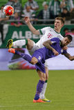Ferencvaros - αγώνας ποδοσφαίρου ένωσης τράπεζας Ujpest OTP Στοκ Εικόνα