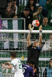 Ferencvaros - αγώνας ποδοσφαίρου ένωσης τράπεζας Ujpest OTP Στοκ Εικόνες