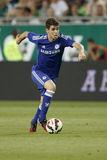 Ferencvaros εναντίον Ανοίγοντας αγώνας ποδοσφαίρου σταδίων της Chelsea Στοκ εικόνα με δικαίωμα ελεύθερης χρήσης