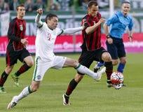 Ferencvaros - футбольный матч лиги банка Будапешта Honved OTP Стоковое фото RF