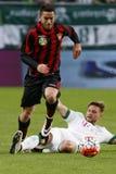 Ferencvaros - футбольный матч лиги банка Будапешта Honved OTP Стоковое Фото