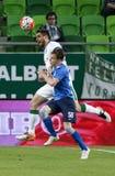 Ferencvaros - футбольный матч лиги банка MTK Будапешта OTP Стоковое Изображение RF