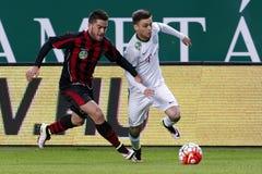 Ferencvaros, Budapest Honved OTP banka Ligowy futbolowy dopasowanie - Zdjęcie Royalty Free
