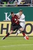Ferencvaros, Budapest Honved OTP banka Ligowy futbolowy dopasowanie - Zdjęcie Stock