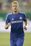 Ferencvaros contra Fósforo de futebol da abertura do estádio de Chelsea Fotos de Stock Royalty Free