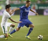 Ferencvaros contra Fósforo de futebol da abertura do estádio de Chelsea Fotografia de Stock Royalty Free