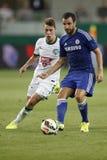 Ferencvaros contra Fósforo de futebol da abertura do estádio de Chelsea Fotografia de Stock