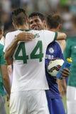 Ferencvaros contra Fósforo de futebol da abertura do estádio de Chelsea Foto de Stock Royalty Free