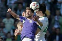 Ferencvaros contra Fósforo de futebol da liga do banco de Ujpest OTP Imagem de Stock