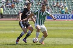 Ferencvaros contra Fósforo de futebol de Diosgyori VTK Imagens de Stock