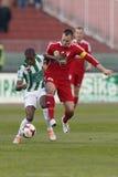 Ferencvaros contra o fósforo de futebol do Debreceni VSC Fotos de Stock Royalty Free