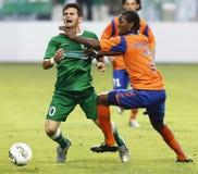 Ferencvaros contre l'allumette de ligue d'Europa de l'UEFA d'Aalesund Photos stock