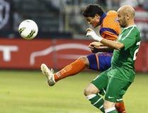 Ferencvaros contre l'allumette de ligue d'Europa de l'UEFA d'Aalesund Photos libres de droits