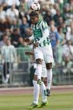Ferencvaros contre le match de football de ligue de banque d'Ujpest OTP photographie stock libre de droits