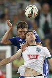 Ferencvaros contre Match de football d'ouverture de stade de Chelsea Photographie stock libre de droits
