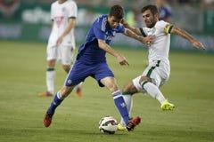 Ferencvaros contro Partita di calcio di apertura dello stadio di Chelsea Immagini Stock Libere da Diritti