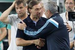 Ferencvaros contro Partita di calcio di apertura dello stadio di Chelsea Immagine Stock Libera da Diritti