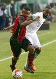 Ferencvaros - de voetbalwedstrijd van de de Bankliga van Boedapest Honved OTP stock foto