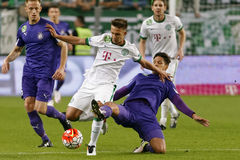 Ferencvaros - de voetbalwedstrijd van de de Bankliga van Ujpest OTP Stock Foto's
