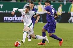 Ferencvaros - de voetbalwedstrijd van de de Bankliga van Ujpest OTP Royalty-vrije Stock Afbeelding