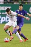 Ferencvaros - de voetbalwedstrijd van de de Bankliga van Ujpest OTP Stock Afbeelding