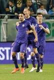 Ferencvaros - de voetbalwedstrijd van de de Bankliga van Ujpest OTP Royalty-vrije Stock Foto