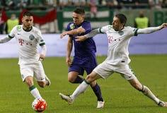 Ferencvaros - de voetbalwedstrijd van de de Bankliga van Ujpest OTP Royalty-vrije Stock Fotografie