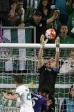 Ferencvaros - de voetbalwedstrijd van de de Bankliga van Ujpest OTP Stock Afbeeldingen