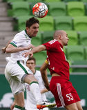 Ferencvaros - DVSC-Magyar Kupa-Halbfinalefußballspiel Stockbilder