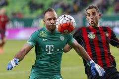 Ferencvaros - fósforo de futebol da liga do banco de Budapest Honved OTP Imagens de Stock Royalty Free