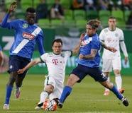 Ferencvaros - fósforo de futebol da liga do banco do MTK Budapest OTP Imagens de Stock