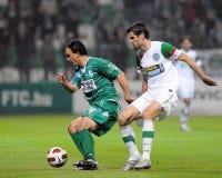 Ferencvaros-Kaposvar soccer game Royalty Free Stock Photography