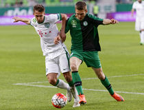 Ferencvaros - Paks OTP Bank League football match Royalty Free Stock Image