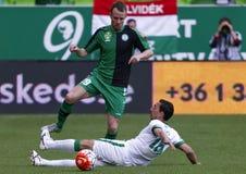 Ferencvaros - Paks OTP Bank League football match Stock Images