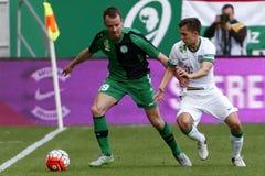 Ferencvaros - Paks OTP Bank League football match Stock Photos