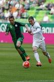 Ferencvaros, Paks OTP banka Ligowy futbolowy dopasowanie - Fotografia Royalty Free