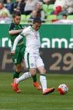 Ferencvaros, Paks OTP banka Ligowy futbolowy dopasowanie - Zdjęcia Royalty Free