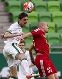 Ferencvaros - partita di calcio semi-finale della tazza ungherese di DVSC Immagini Stock