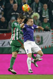 Ferencvaros - Ujpest OTP Bank League football match Royalty Free Stock Image