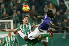 Ferencvaros - Ujpest OTP Bank League football match Stock Photo